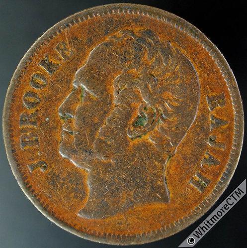 1863 Sarawak 1 Cent Y4