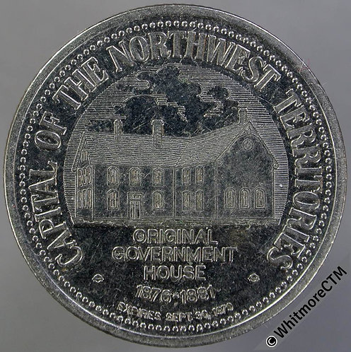 Canada North West Territories Token Battleford 33mm 1978 $1 Government House, CN