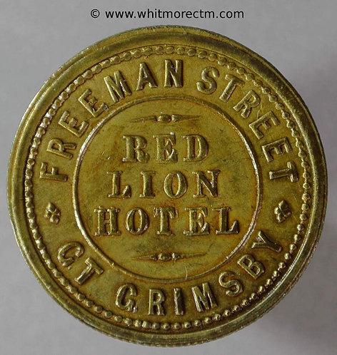 Grimsby Inn / Pub Token HU480 Red Lion Hotel - Freeman street/ 2D in wreath