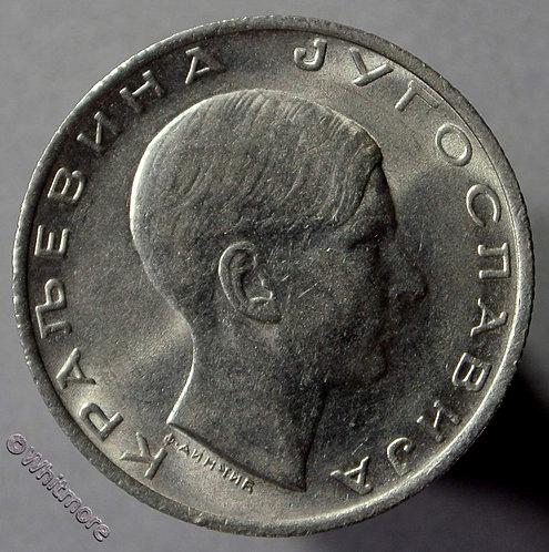 1938 Yugoslavia 10 Dinara coin