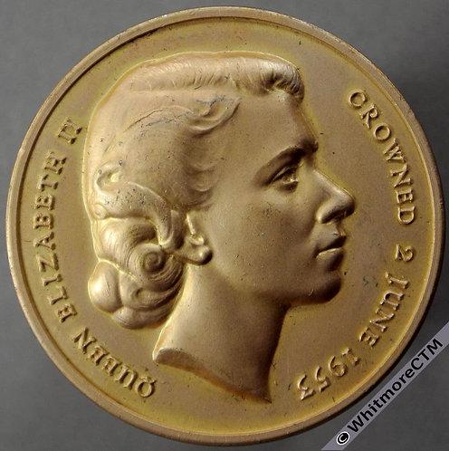 Lambeth 1953 Elizabeth II Coronation Medal 35mm WE8056E Anodised aluminium Boxed