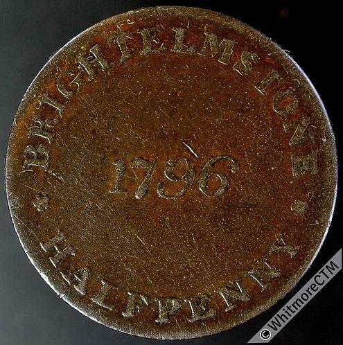 "18th Century Halfpenny Brighton 10 1796 W.Mighells - ""Honor the King"""