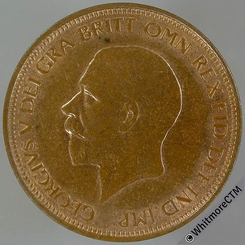 1931 Bronze Halfpenny George V - 60% Luster