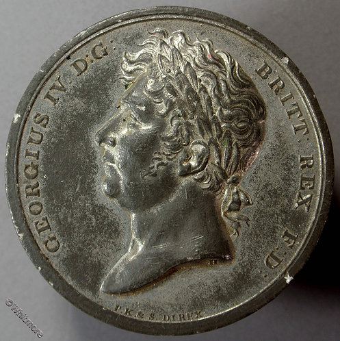 1821 Medallion obv Coronation of George IV by Halliday & P.Kempson & Sons B1073