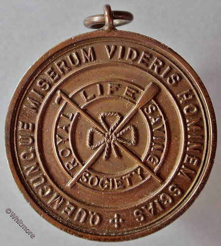 1938 Royal Life Saving Society Medal 33mm cased Bronze with suspender