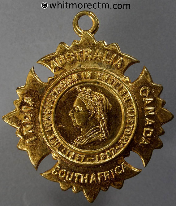 1897 Diamond Jubilee Queen Victoria Medal 47mm WE3702A3 Bracteate gilt brass