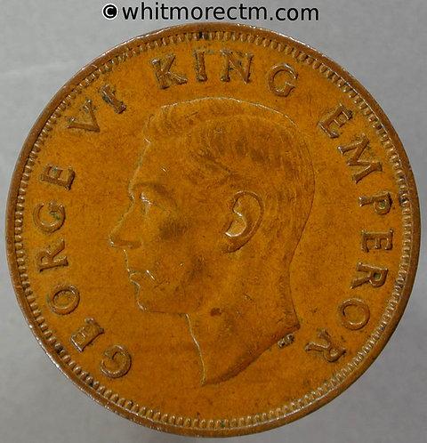 1941 New Zealand Penny Y8 - George VI