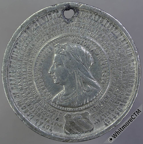 Manchester 1894 Opening of Ship Canal Medal 36mm WE1778 White metal. Rare
