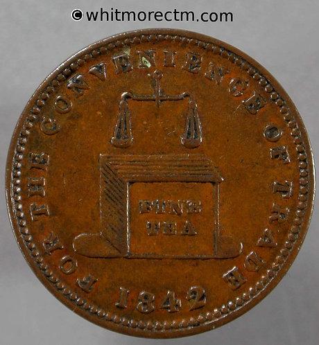 Unofficial Farthing Brierley Hill 1210 1842 W Wheeler Tea Dealer Tea chest