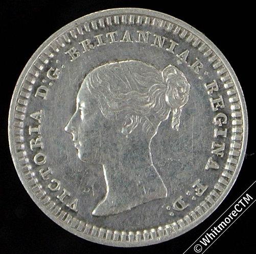 1839 Victoria Silver Three Half-Penny