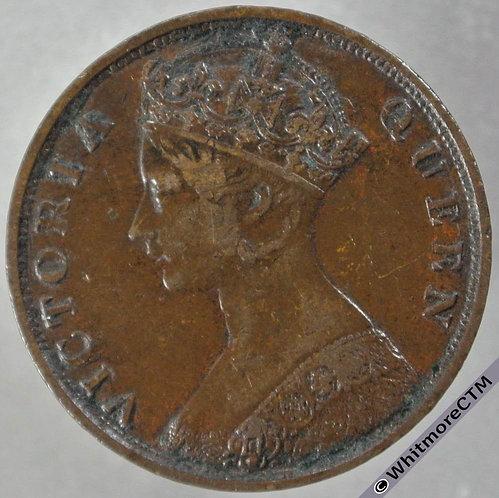 1876 Hong Kong 1 Cent Y1 obv