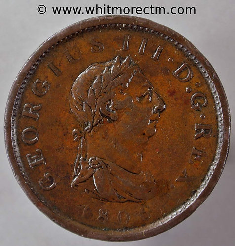 1806 George III Copper Penny With hair curl