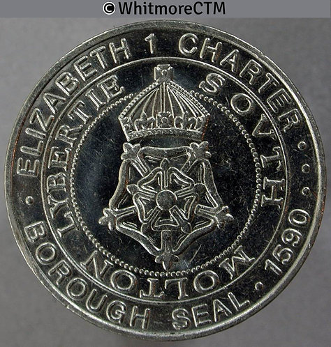 South Molton Devon 1990 400th Anniversary of Charter Medal 31mm Cupronickel