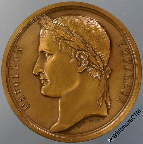 France Reburial of Napoleon in Paris Medal By Montagny. Bronze. 1978 restrike