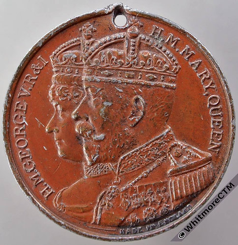 Wallasey 1914 Visit of George V & Queen Mary Medal 38mm WE5481A Bronzed W.M