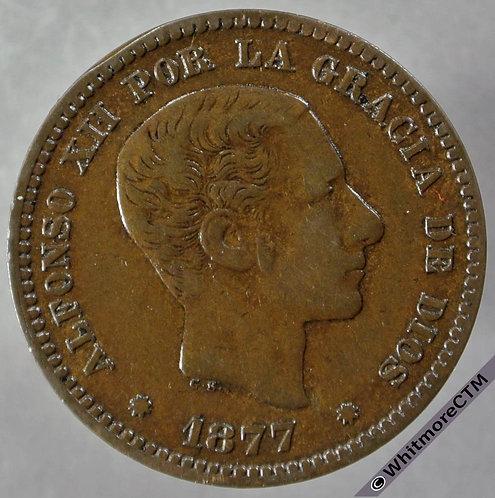 1877 Spain 5 Centimos obv