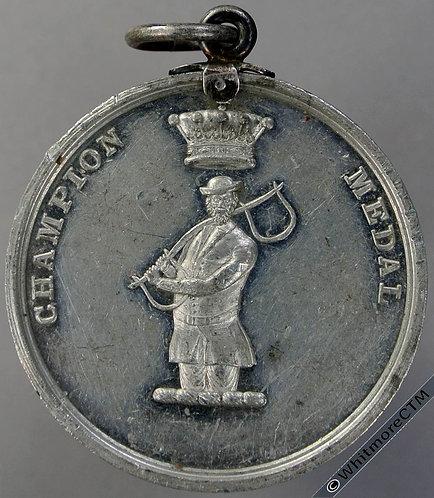 Dupplin Loch (Perthshire) Champion (Fishing?) Medal 40mm White metal suspender