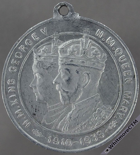 Worksop 1935 George V Jubilee Medal 32mm WE5682Q Aluminium By Fattorini