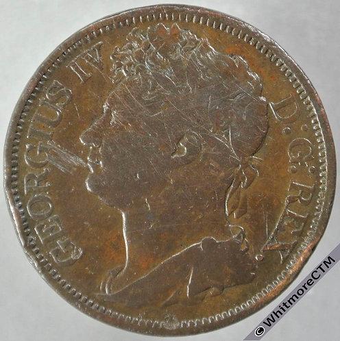 1822 Ireland under English Rule Penny George IV