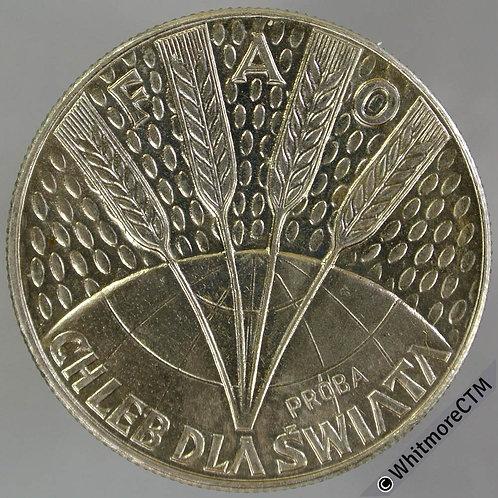 1971 Poland 10 Zlotych FAO Proba KPR187 - 4 Ears of wheat