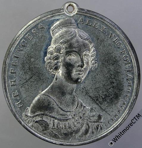 1837 Majority of Princess Victoria Medal 38mm B1740 By Halliday. WM Very rare