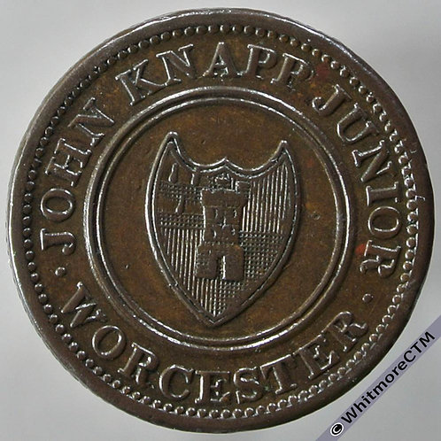 19th Century Farthing Token Worcester 1287 1813 John Knapp Junior To facilitate