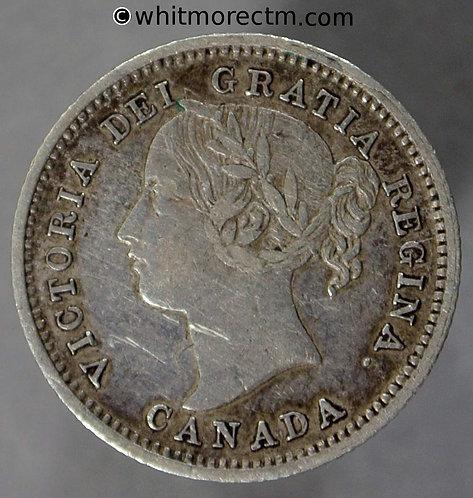 1871 ( No H ) Canada Ten Cent coin - Victoria