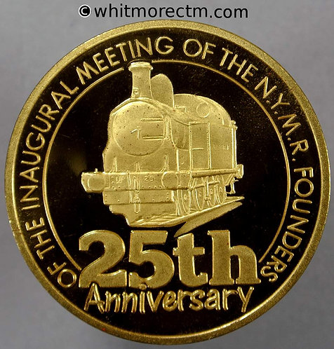 Yorkshire 1992 25th Anniversary of N.Y.M.R. Medal 39mm - Steam Locomotive