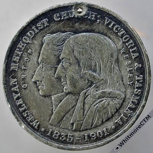 Australia 1901 Wesleyan Methodist Church Victoria & Tasmania Medal 31mm W.M