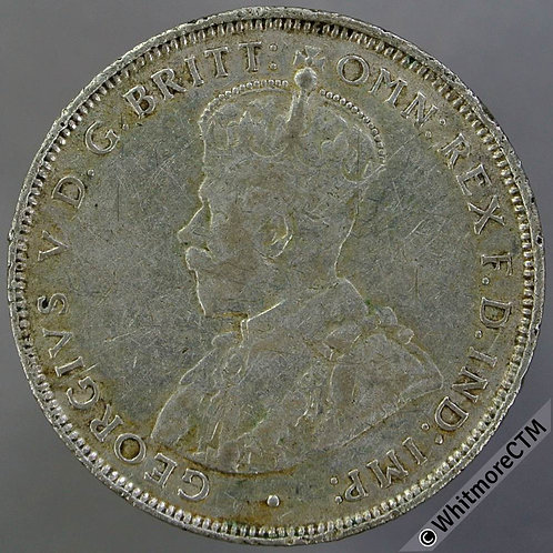 1920H British West Africa 2/- Two Shilling Y17 silver rare
