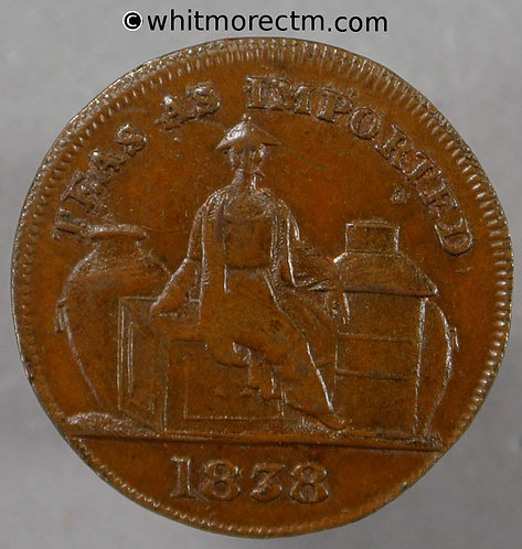 Unofficial Farthing Aberdeen obv 6950 1838 Usual centre weakness - 10% Luster