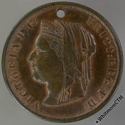 Solihull 1887 Golden Jubilee Medal 32mm WE2435 In Commemoration.' Bronze Pierced