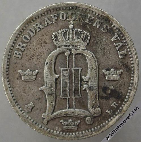 1878 Sweden 50 Öre Y21