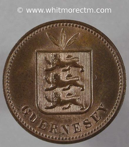Guernsey 2 Doubles E45 1889H 80% Luster