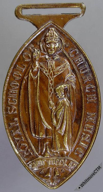 Royal School of Church Music Medal 42x25mm F&S (Fattorini?). Lens shaped bronze