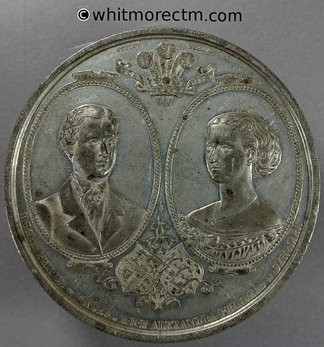 1863 Marriage of Prince & Princess of Wales Medal 65mm B2767 By Ottley