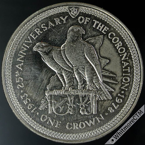 1978 Isle of Man. 25th Anniversary of Coronation - one crown Y26