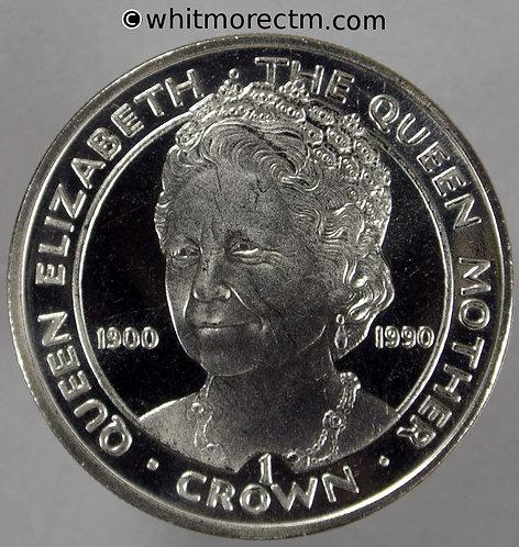 1990 Gibraltar Crown Queen Mother 90th Birthday rev K46