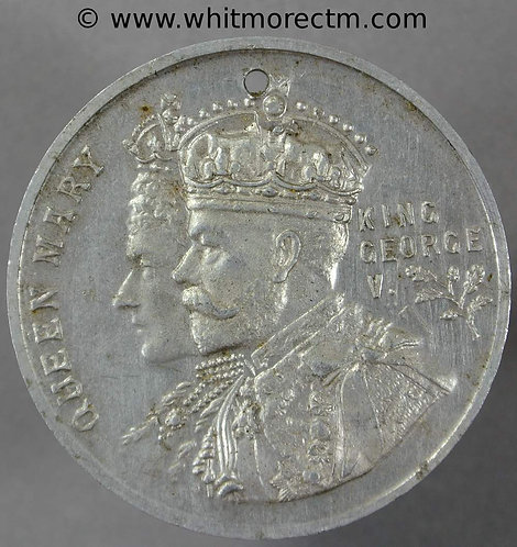Old Monkland 1911 Coronation Medal obv 38mm WE5053F Aluminium. Pierced