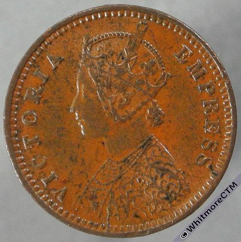 1891 India 1/12th Anna S&W 6.635 - obv