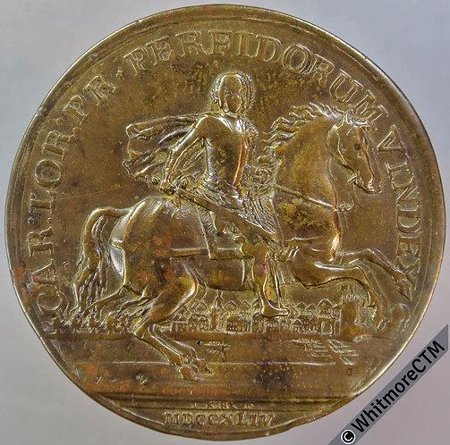 1744 Charles Prince of Lorraine Medal 42mm MI 592/238 By Kirk - Bronze