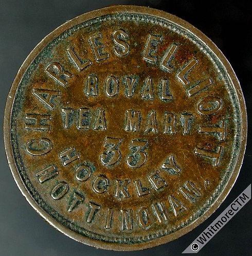 Unofficial Farthing Nottingham 4070 Charles Elliott Royal Tea Mart - Rare