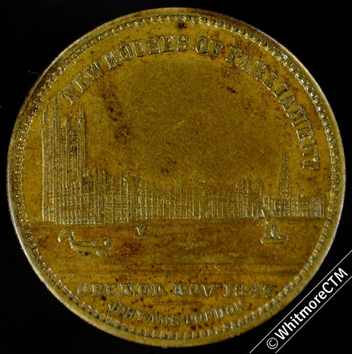 1847 New Houses of Parliament Medal 22mm B2291 By Allen & Moore. W.M