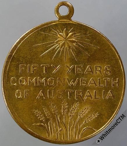 Australia 1951 50th Anniversary of Commonwealth Medal 31mm C6 Gilt bronze