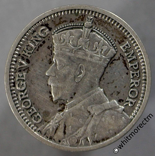 1933 New Zealand 3 Pence - George V obv