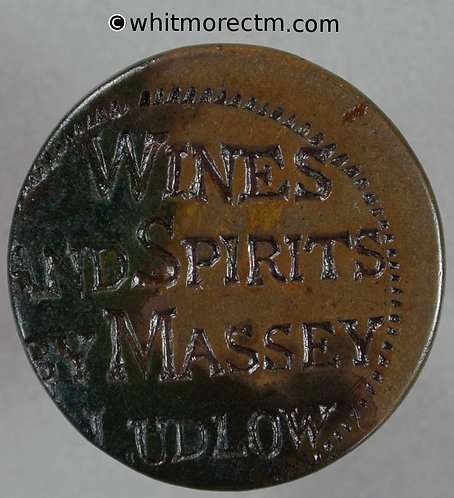 Countermarked Coin Token Ludlow 30.5C Wines and Spirits by Massey - of center OBV