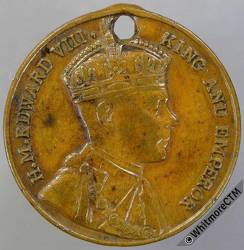 25mm Edward VIII Crowned bust R.  Uniface Bronze Giordino 193