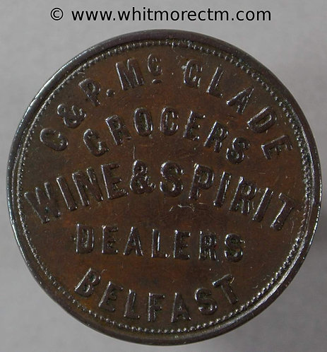 Unofficial Farthing Belfast 5525 C & P McGlade - G over E. No comma after grocer