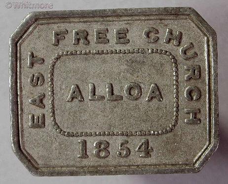 Communion Token Alloa 1854 East Free Church 27x21mm