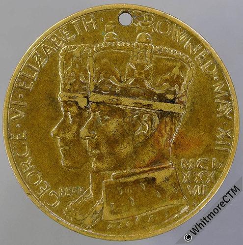 Royal Berkshire Hospital Centenary Fund 1937 Medal 26mm Gilt bronze. Pierced